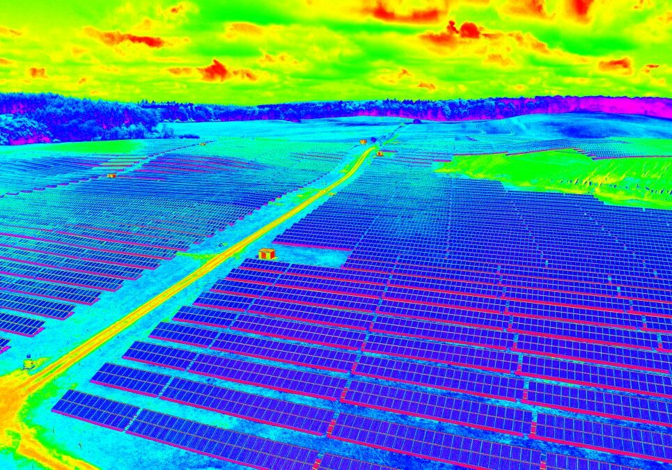 commercial drone aerial thermal imaging