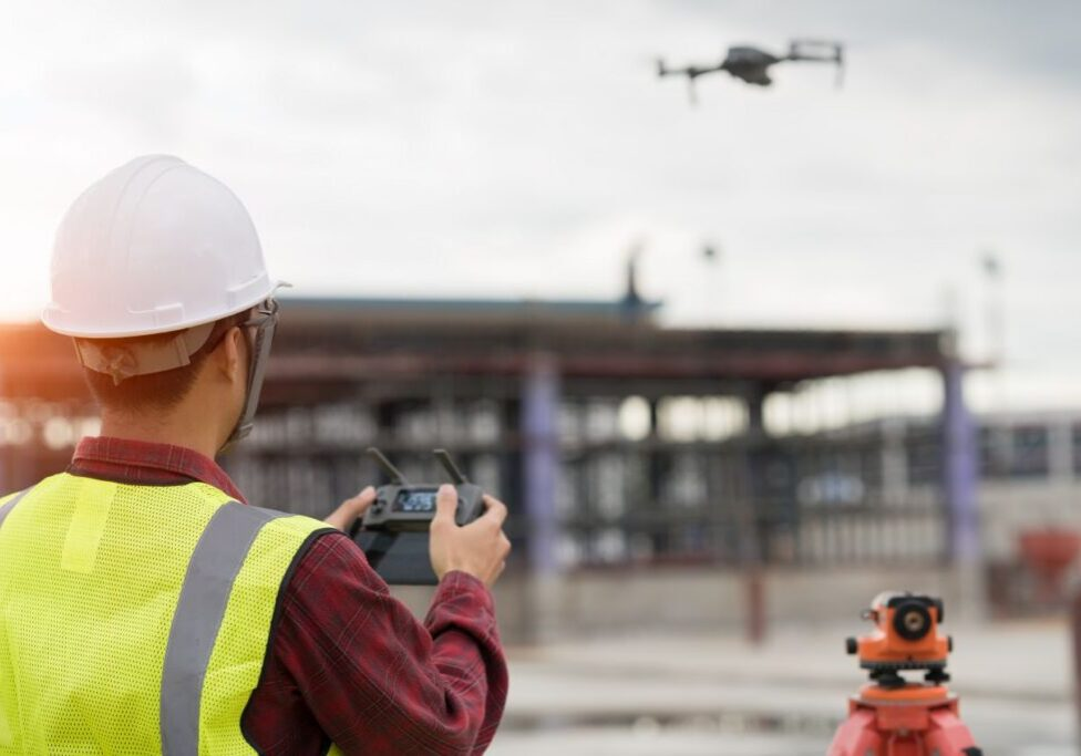 commercial drone roof inspection and aerial thermal imaging